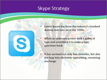 Tree hands PowerPoint Template - Slide 8