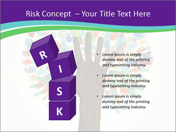 Tree hands PowerPoint Template - Slide 81