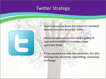 Tree hands PowerPoint Template - Slide 9