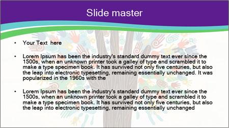 Tree hands PowerPoint Template - Slide 2
