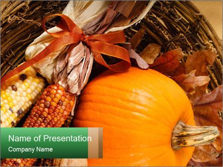A colorful orange pumpkin PowerPoint Template