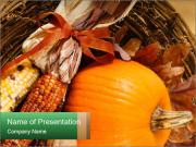 A colorful orange pumpkin PowerPoint Templates