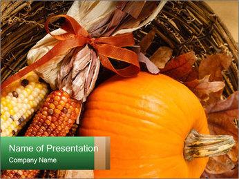 A colorful orange pumpkin PowerPoint Template - Slide 1
