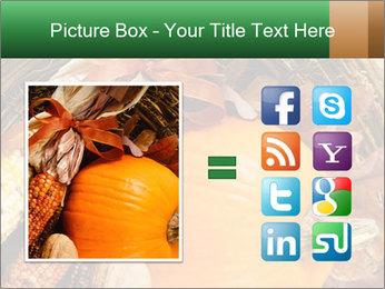 A colorful orange pumpkin PowerPoint Template - Slide 21