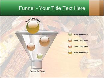 A colorful orange pumpkin PowerPoint Template - Slide 63