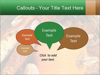 A colorful orange pumpkin PowerPoint Template - Slide 73