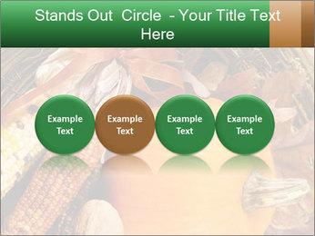 A colorful orange pumpkin PowerPoint Template - Slide 76