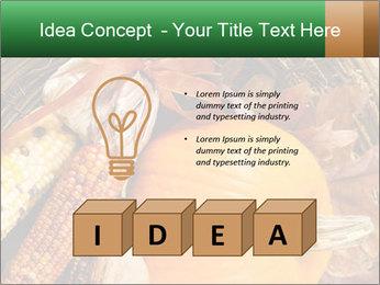 A colorful orange pumpkin PowerPoint Template - Slide 80