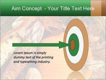 A colorful orange pumpkin PowerPoint Template - Slide 83
