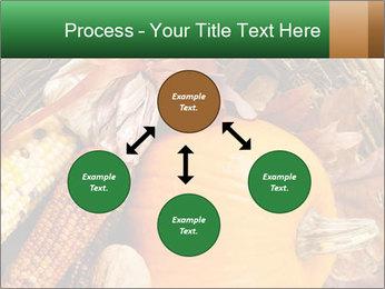 A colorful orange pumpkin PowerPoint Template - Slide 91