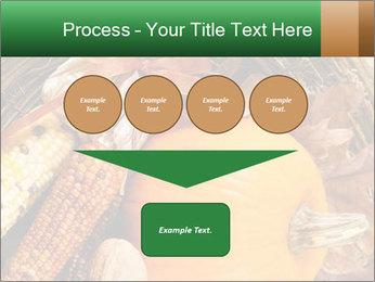 A colorful orange pumpkin PowerPoint Template - Slide 93
