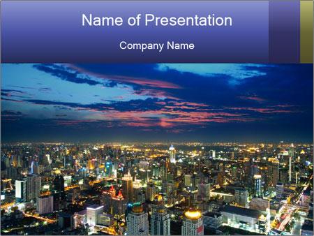 Bangkok at night PowerPoint Template