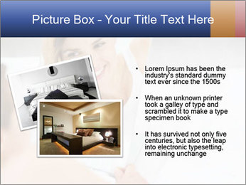 Woman laying on bed PowerPoint Template - Slide 20