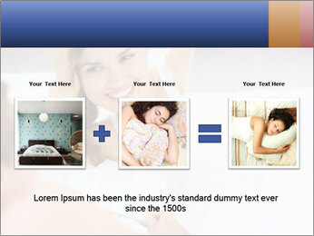 Woman laying on bed PowerPoint Template - Slide 22