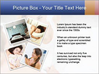 Woman laying on bed PowerPoint Template - Slide 23
