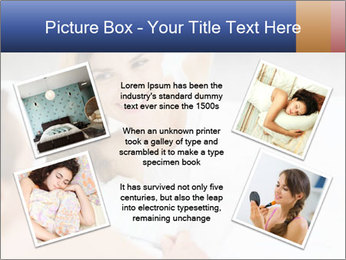 Woman laying on bed PowerPoint Template - Slide 24