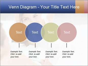 Woman laying on bed PowerPoint Template - Slide 32