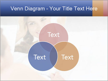 Woman laying on bed PowerPoint Template - Slide 33