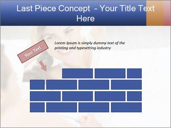 Woman laying on bed PowerPoint Template - Slide 46