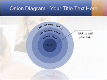 Woman laying on bed PowerPoint Template - Slide 61