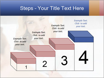 Woman laying on bed PowerPoint Template - Slide 64