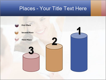Woman laying on bed PowerPoint Template - Slide 65