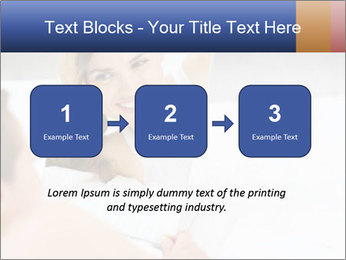 Woman laying on bed PowerPoint Template - Slide 71