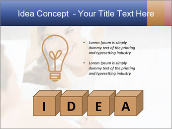 Woman laying on bed PowerPoint Template - Slide 80