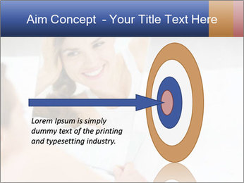 Woman laying on bed PowerPoint Template - Slide 83