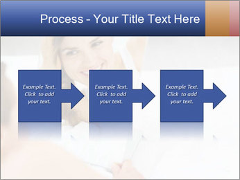 Woman laying on bed PowerPoint Template - Slide 88
