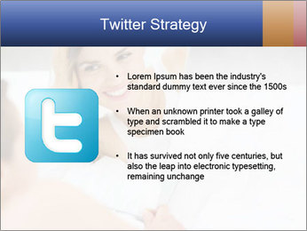 Woman laying on bed PowerPoint Template - Slide 9