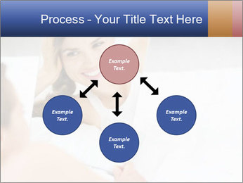 Woman laying on bed PowerPoint Template - Slide 91