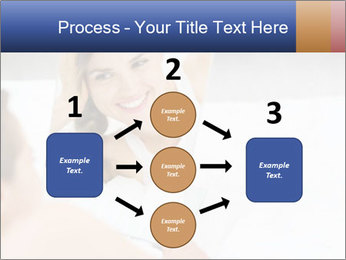 Woman laying on bed PowerPoint Template - Slide 92