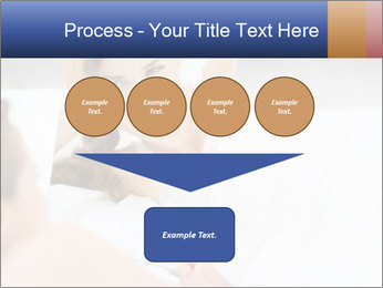 Woman laying on bed PowerPoint Template - Slide 93