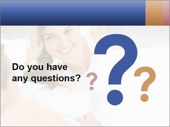 Woman laying on bed PowerPoint Template - Slide 96