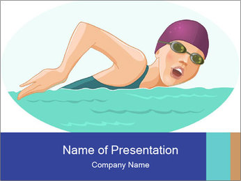 Swimming PowerPoint Template - Slide 1
