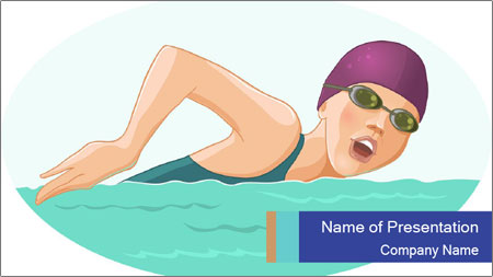 Swimming PowerPoint Template