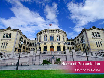 The norwegian parliament PowerPoint Template - Slide 1
