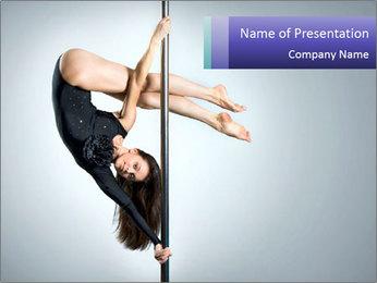 Woman dance PowerPoint Template - Slide 1