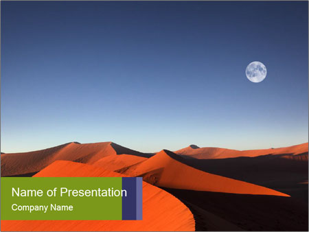 Red sand dune PowerPoint Templates