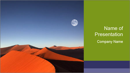 Red sand dune PowerPoint Template
