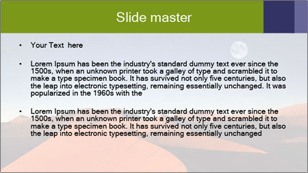 Red sand dune PowerPoint Template - Slide 2