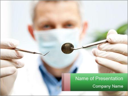 Dentist mirror PowerPoint Template