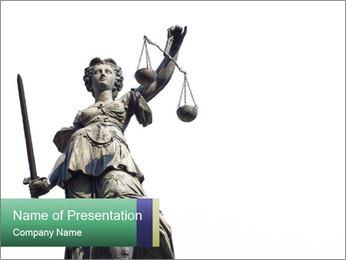 Justitia PowerPoint Template - Slide 1