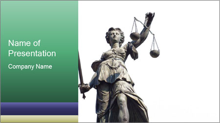 Justitia PowerPoint Template
