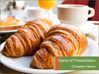 Breakfast with coffee PowerPoint Template - Slide 1