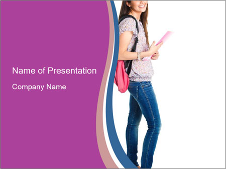 Female student PowerPoint Templates