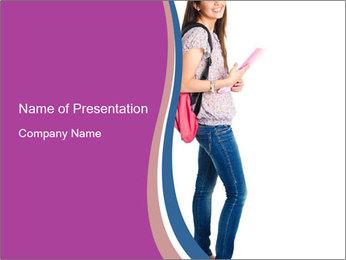 Female student PowerPoint Template - Slide 1