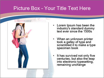Female student PowerPoint Template - Slide 13