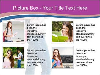 Female student PowerPoint Template - Slide 14